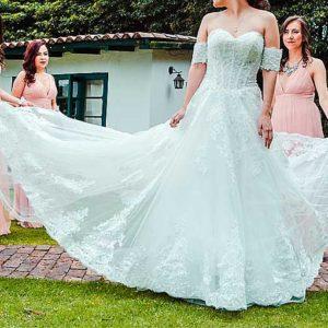 alquiler y venta vestido novia como nuevo la lapita