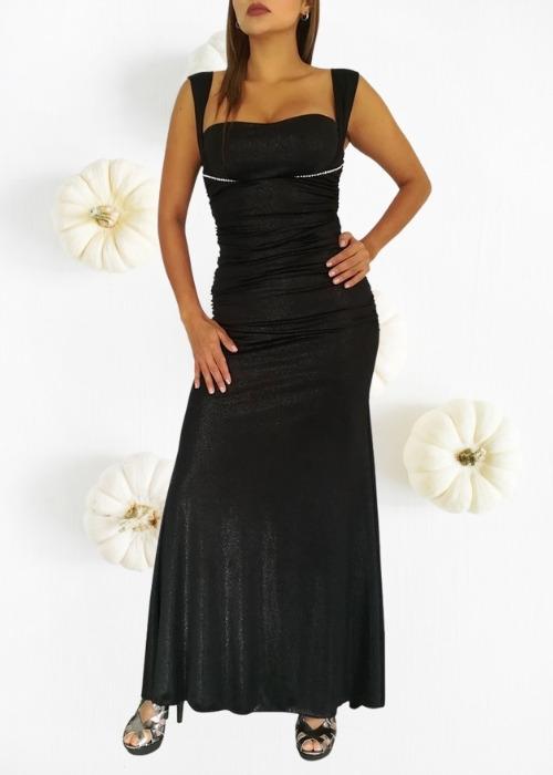 vestido_gris_oscuro_largo_grado_alquiler_lalapita