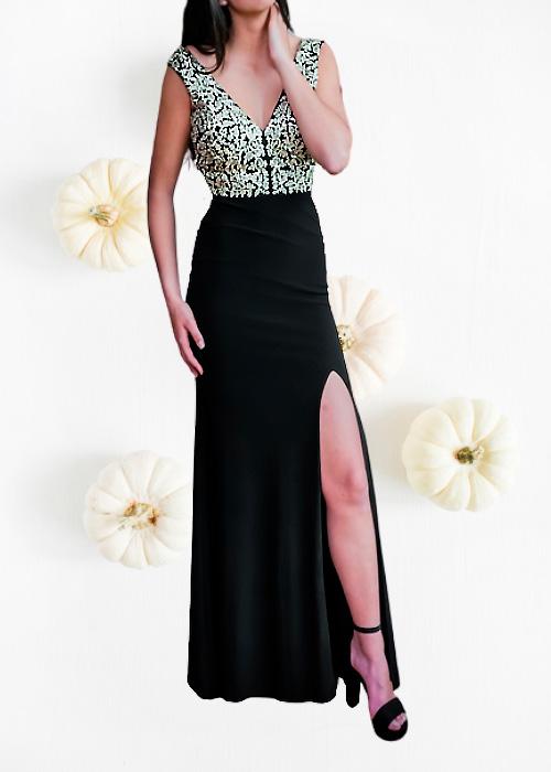 Vestido Elegante Largo Gala negro